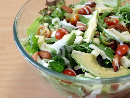 Mixed Greens, Avocado and Feta Salad