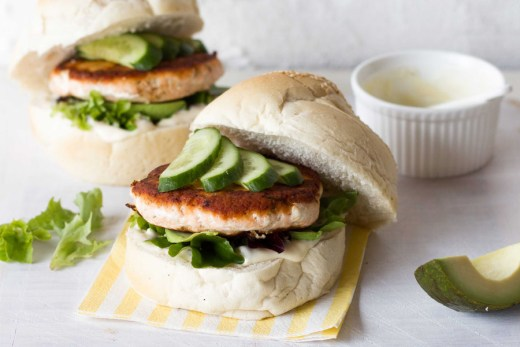 Guest Post : Martyna from Wholesome Cook featuring Salmon Burgers with a Caper Yoghurt Dressing 3