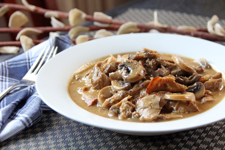 Pork Roast with Mushroom Gravy