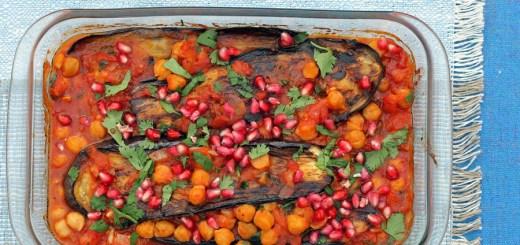 Baked Aubergine and Chickpeas 2