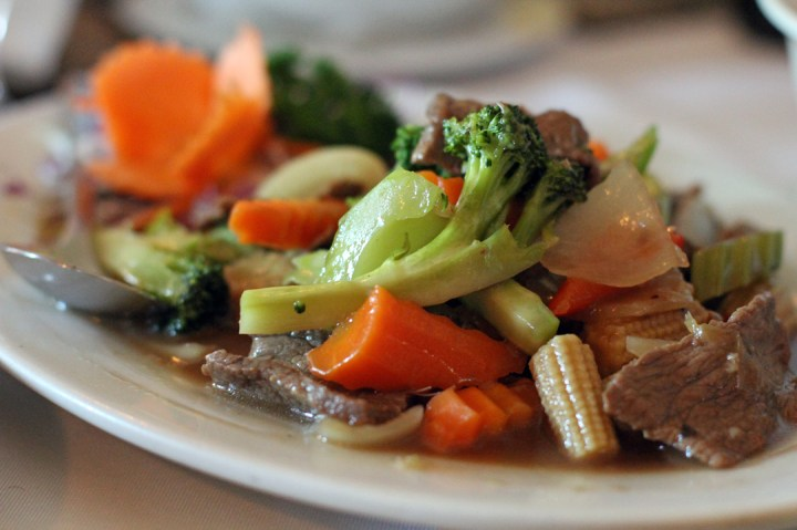 Erawan Thai Stir Fried Beef and Vegetables