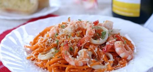Aligue and Prawn Pasta 1