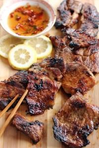 Vietnamese Style Grilled Lemongrass Pork 2