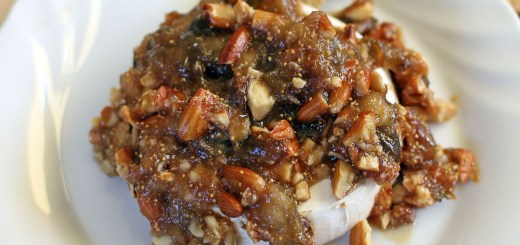 Figs and Toasted Almonds Baked Brie 6