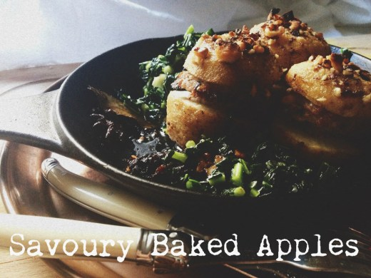 Guest Post : Alice from Girl in a Food Frenzy featuring Savoury Baked Apple with pork & walnut stuffing, with braised Cavalo Nero 2