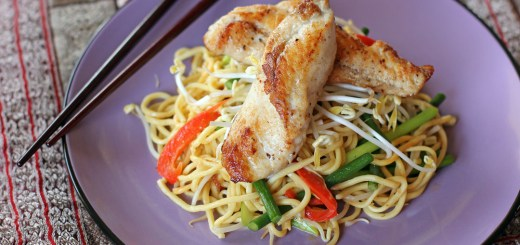 Pan Seared Monk Fish in Stir Fried Laksa Noodles 1