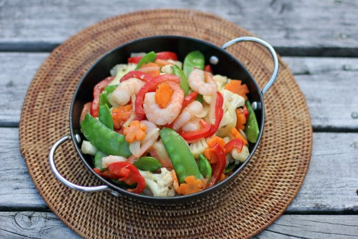 Stir Fried Prawns and Mixed Vegetables 4