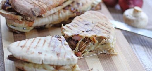 Bacon Mushroom Mozzarella Melt Panini 1