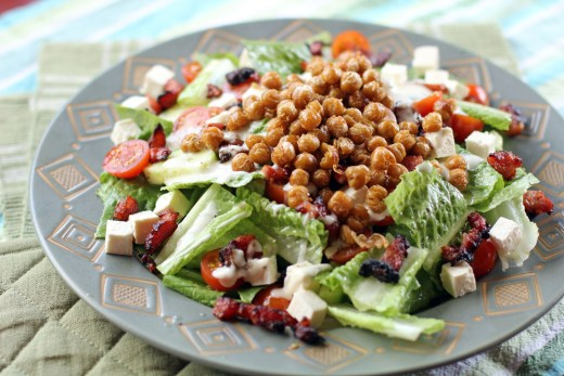Chopped Salad with Bacon and Fried Garbanzo Beans 1