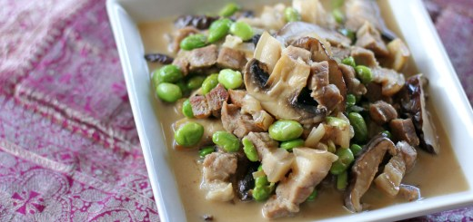 Pork, Shiitake and Edamame in Coconut Cream Sauce 2