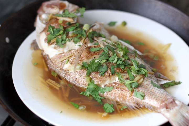 Malaysian Style Steamed Fish Wide