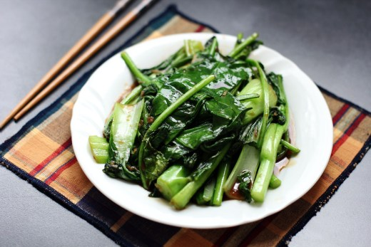 Stir Fried Asian Greens 1