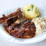 Braised Beef Ribs in Bourbon Barbecue Sauce 1