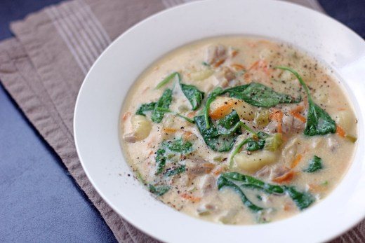 Chicken and Gnocchi Soup 2