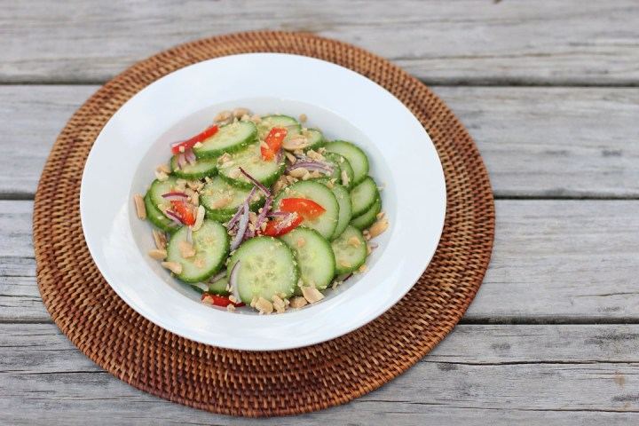 Thai Cucumber Salad Wide
