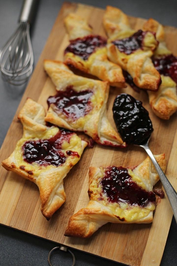 Blueberry and Custard Danish