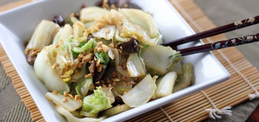 Stir Fried Chinese Cabbage and Shiitake Mushrooms 1