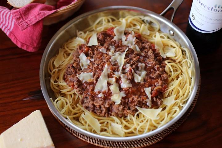 Spaghetti Bolognese Wide