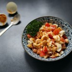 Salted Duck Eggs and Tomato Salad 1