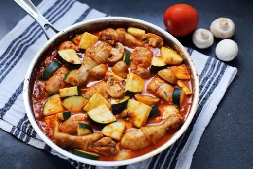 Italian Chicken, Mushroom, and Zucchini Skillet 1