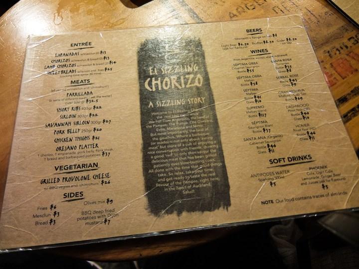 El Sizzling Chorizo 2