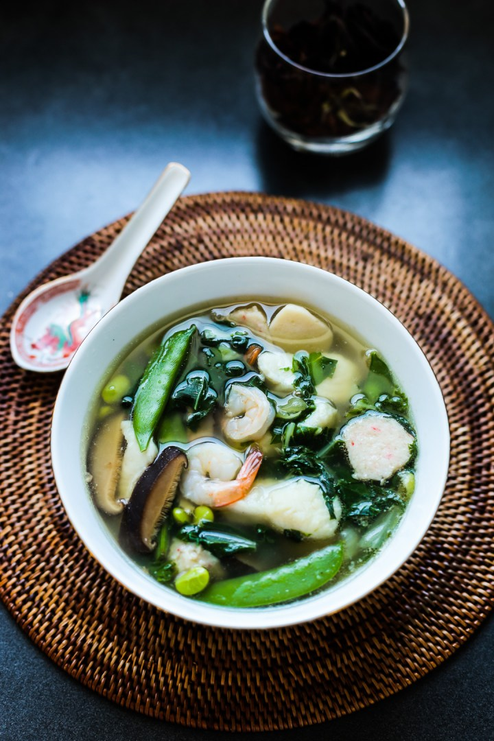 Fish, Prawn and Vegetable Soup