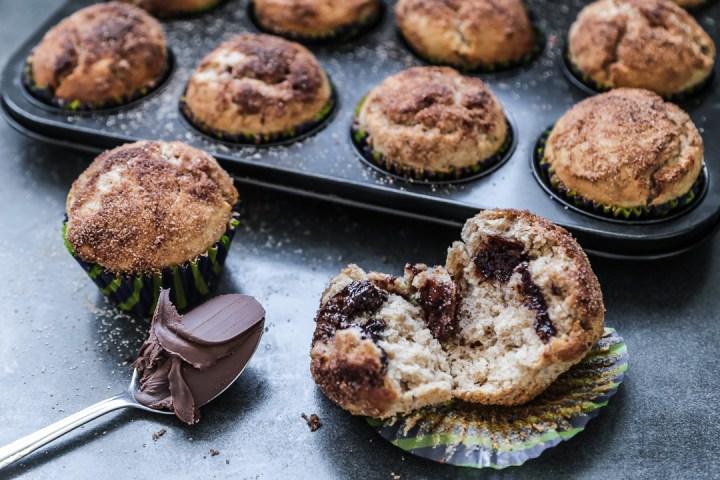 Cinnamon Nutella Muffins Wide