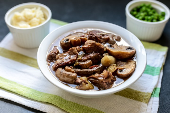 Beef, Leeks and Mushroom Stew Wide