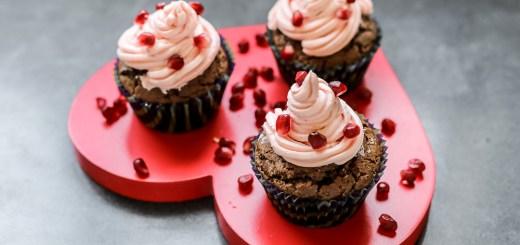 Chocolate Pomegranate Cupcakes 1
