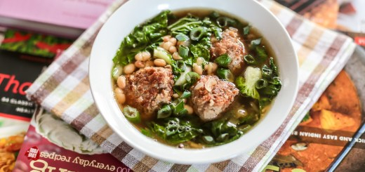 White Bean Soup with Meatballs and Bok Choy 1