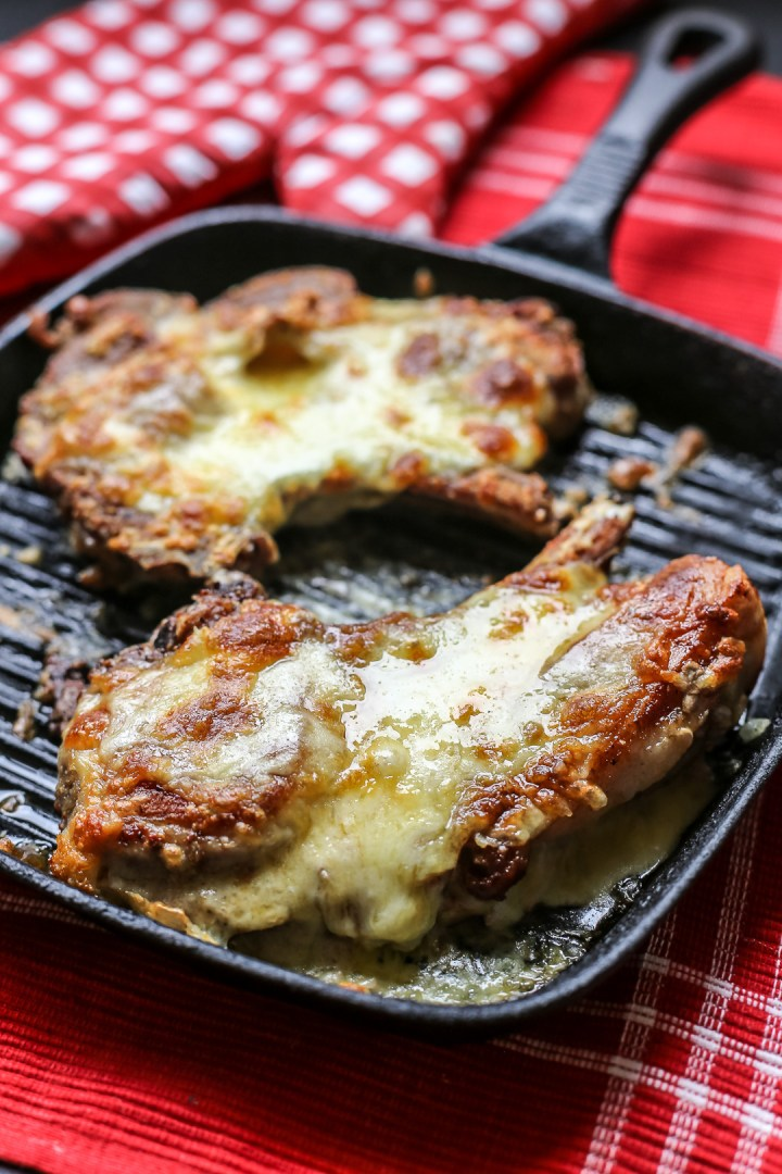 Cheese Stuffed Pork Chops