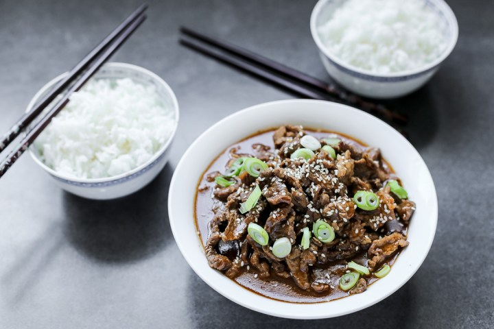 Korean Style Spicy Beef Wide