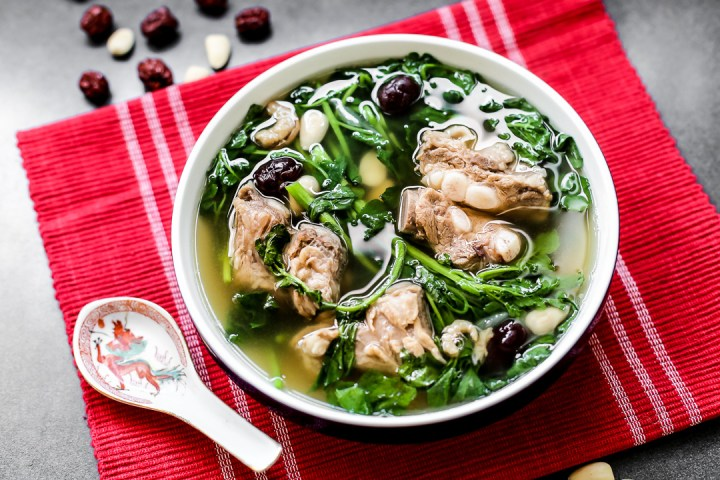 Watercress with Pork Rib Soup Wide