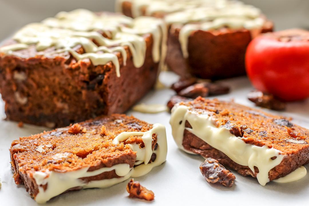 Persimmon Zucchini Cake Recipe