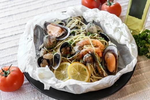 Seafood Pasta al Cartoccio 1