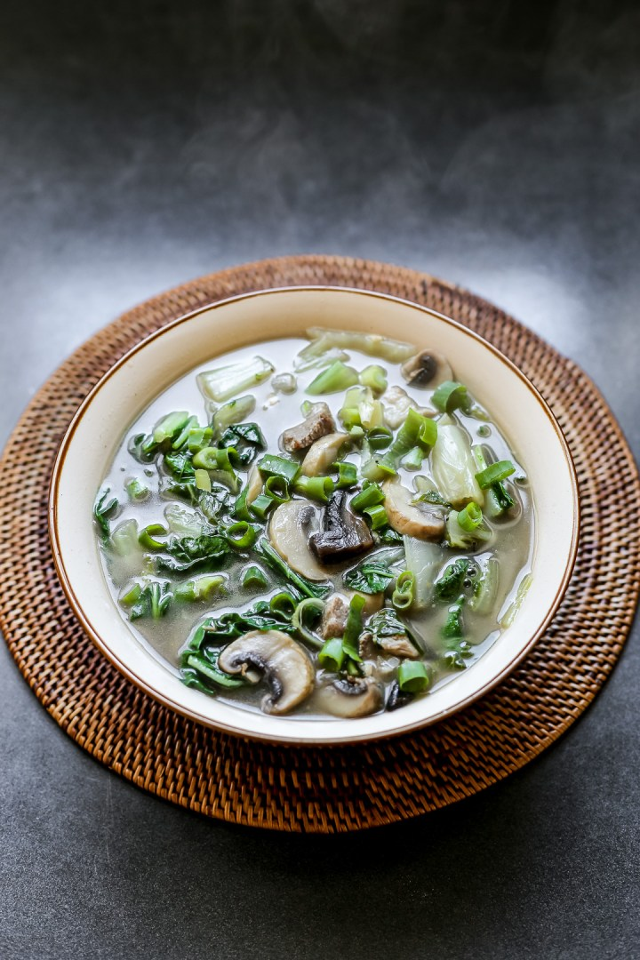 Silverbeet and Mushroom Soup