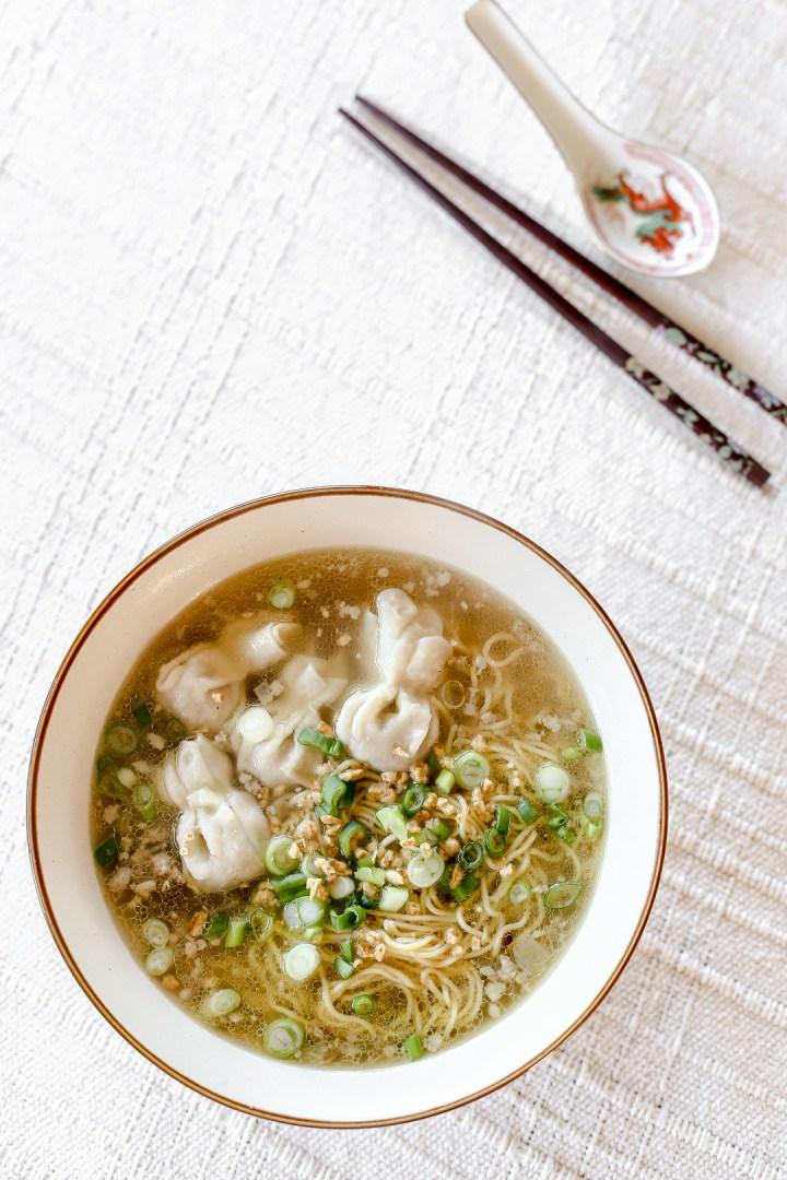 wonton noodle soup  ang sarap