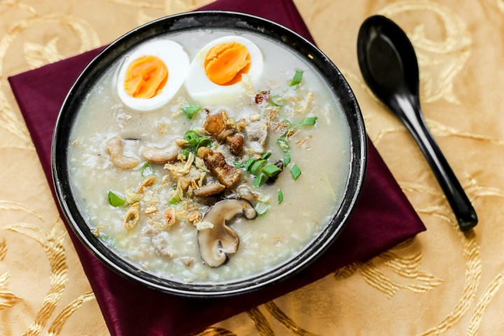 Pork and Dried Shrimp Congee Wide