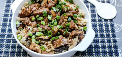 Mushrooms & Pork Ribs Claypot Rice 1
