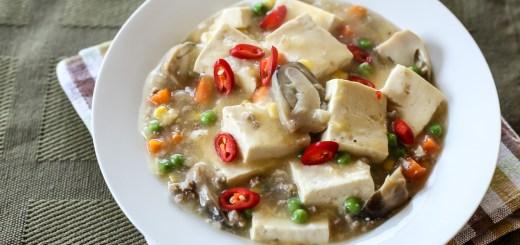 Soft Tofu, Mince and Peas 1