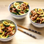 Stir Fried Pork and Courgettes 1