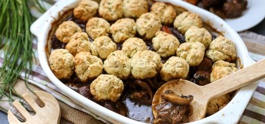 Beef Casserole with Garlic-Chive Dumplings 2
