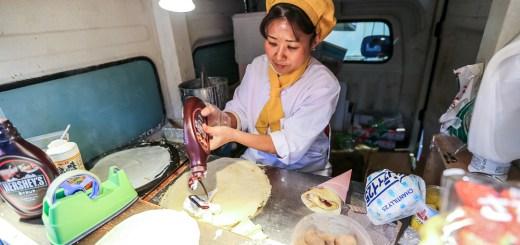 Hachijo Dori Street Food Crepes (Kyoto, Japan) 3