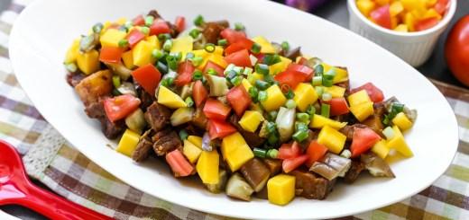 Crispy Pork, Mango and Eggplant Binagoongan 1