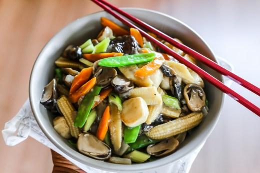 Stir Fried Mushrooms and Vegetables 1
