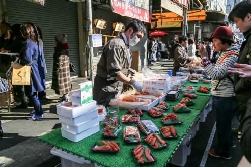 Tsukiji Fish Market Street Food 14