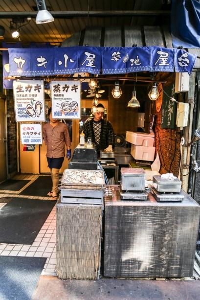 Tsukiji Fish Market Street Food 16
