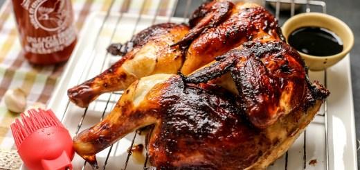 Honey Soy Sriracha Spatchcock Chicken 2