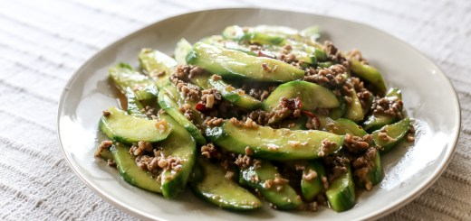 Stir-Fried Cucumbers With Spicy Ground Pork 1