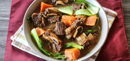 Chinese-Style Beef, Sweet Potato, and Bok Choy Stew 1